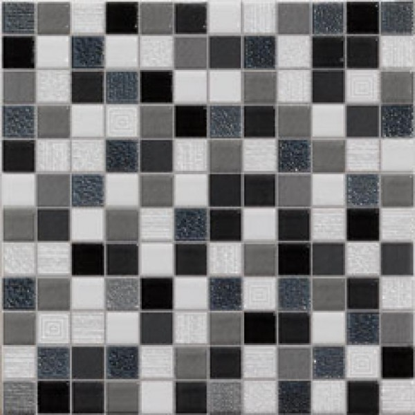 Carrelage mosaique black 20x20cm carrelages for Texture carrelage noir