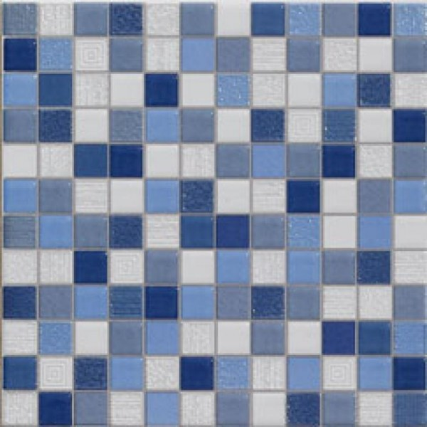 Carrelage mosaique bleu 20x20cm carrelages for Faience bleue salle de bain
