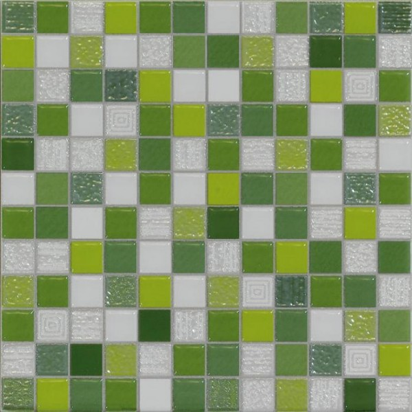 Carrelage mosaique vert 20x20cm carrelages for Carrelage blanc brillant 20x20