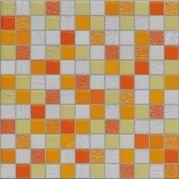 carrelage mosaique orange  20x20cm