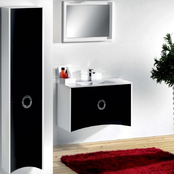 meuble de salle de bain primo 80 noir carrelages. Black Bedroom Furniture Sets. Home Design Ideas