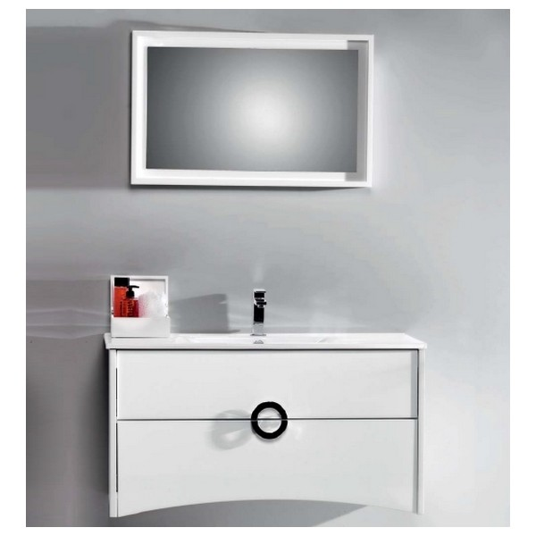 meuble de salle de bain primo 100 blanc carrelages. Black Bedroom Furniture Sets. Home Design Ideas